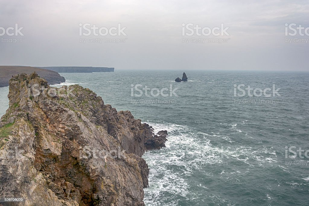 Broad Haven South and Church Rock Pembrokeshire South Wales stock photo
