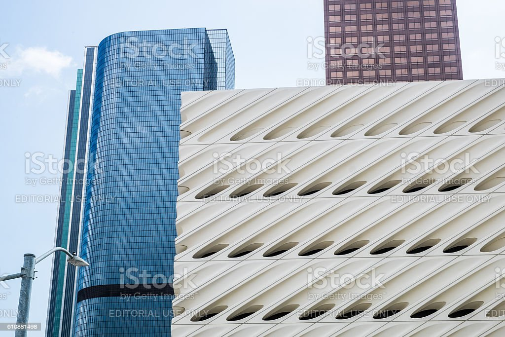 Broad Museum - Grand Avenue - Los Angeles stock photo