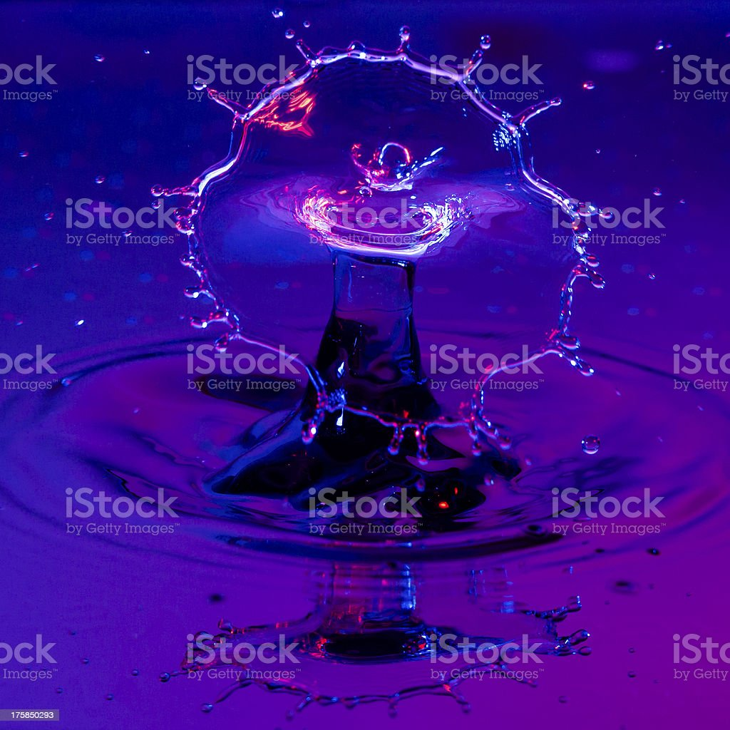 Broad Shield of Water from a Waterdrop stock photo