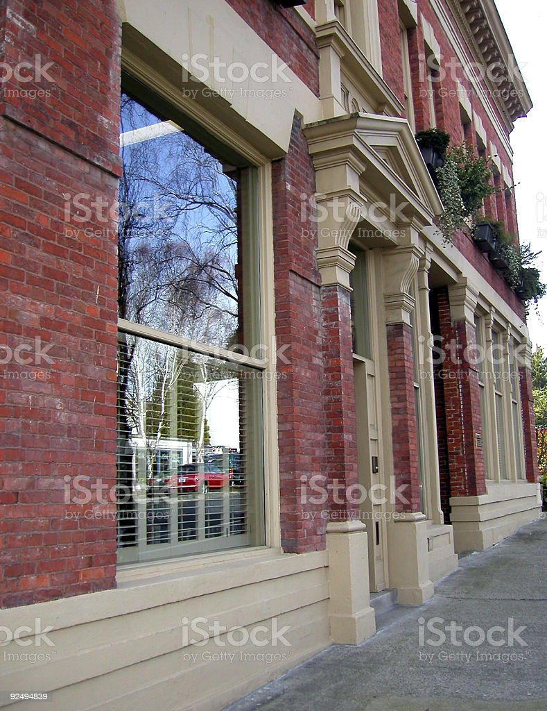 Broad Side of a Building stock photo