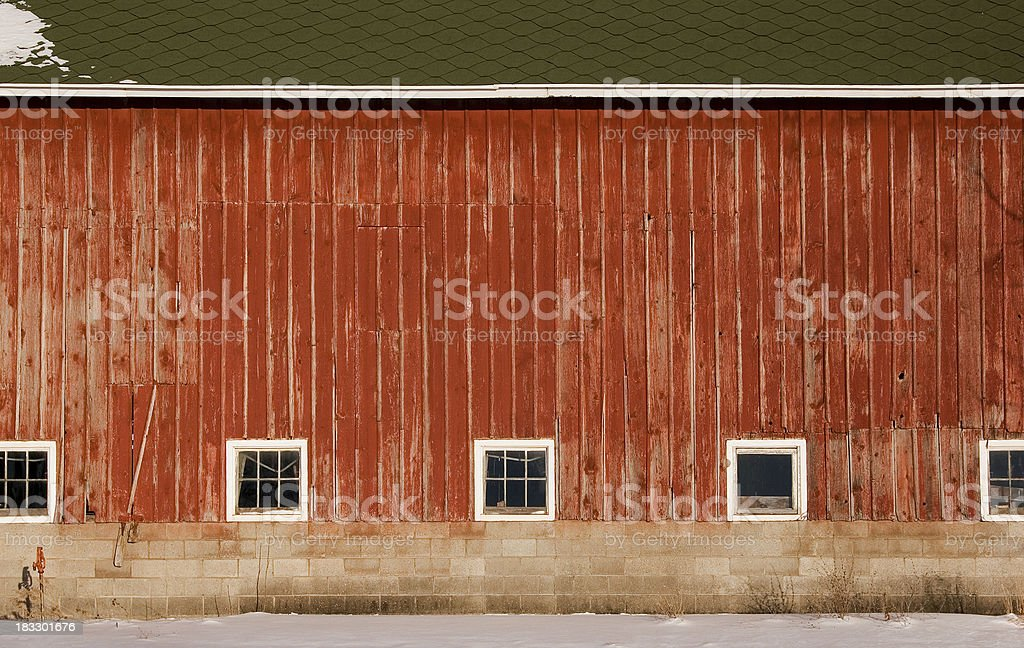 Broad side of an old barn stock photo