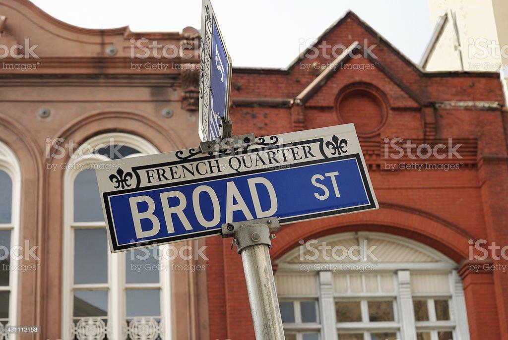 Broad St Charleston SC royalty-free stock photo