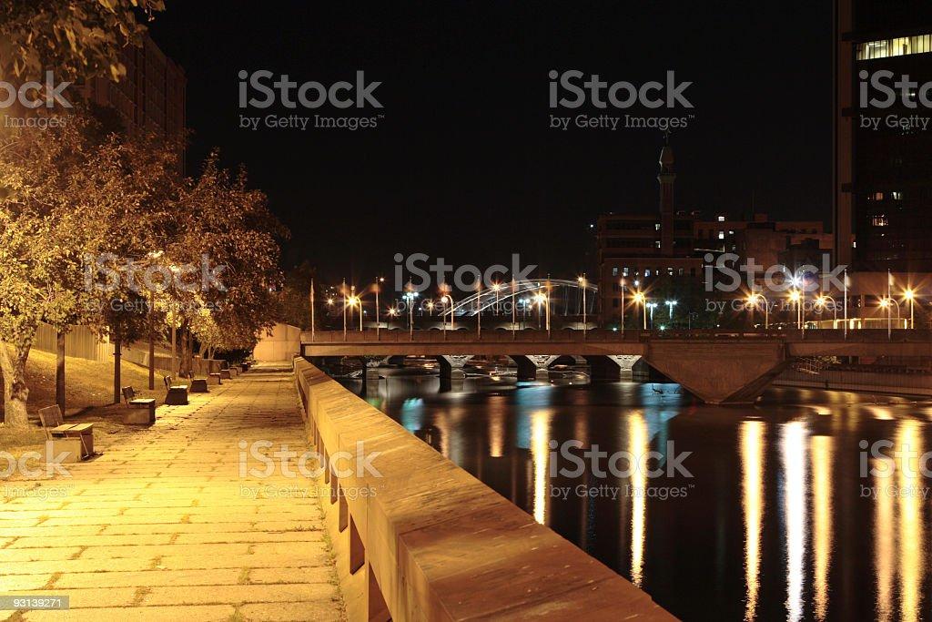 Broad Street bridge stock photo