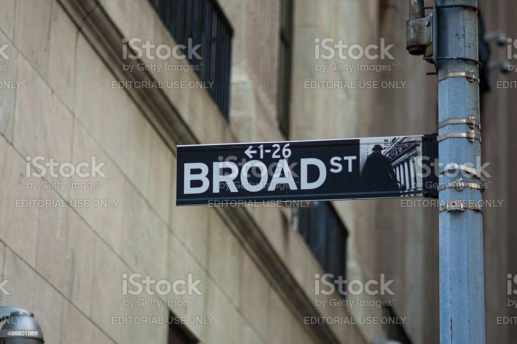 Broad Street NYC stock photo