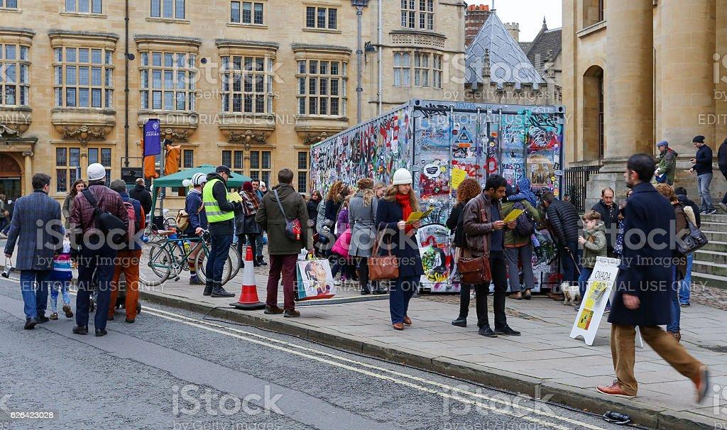 Broad Street, Oxford, UK, 27th November 2016: Art installation stock photo