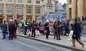 Broad Street, Oxford, UK, 27th November 2016: Art installation