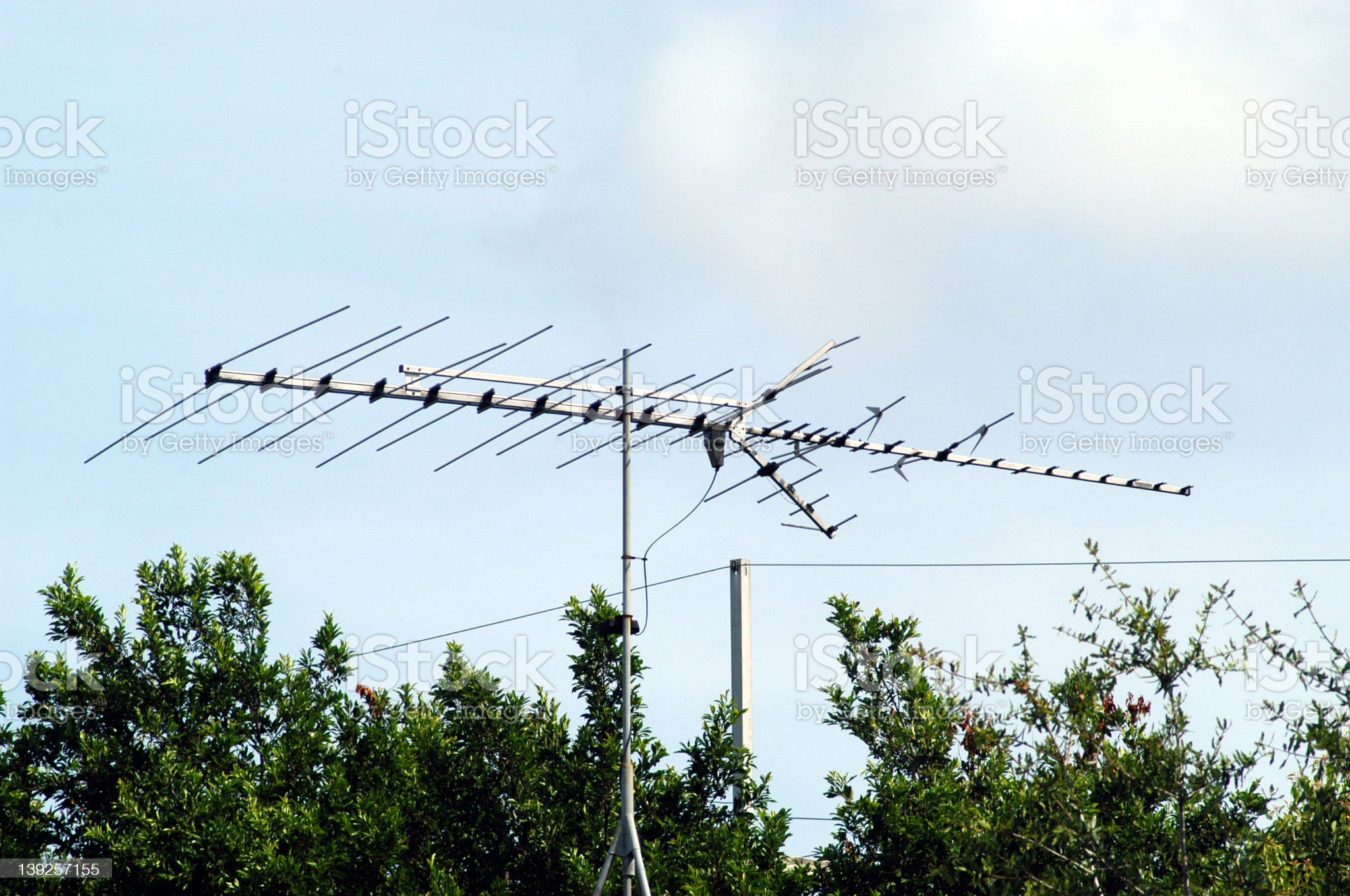 broadcast antenna royalty-free stock photo