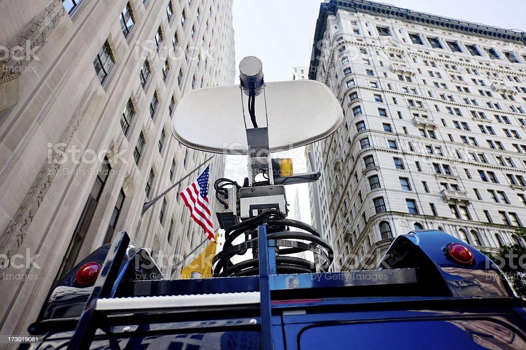 Broadcast Car in NY stock photo