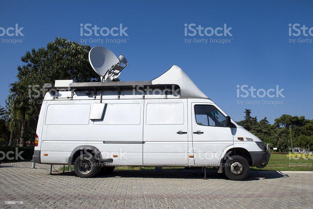 Broadcast Car stock photo