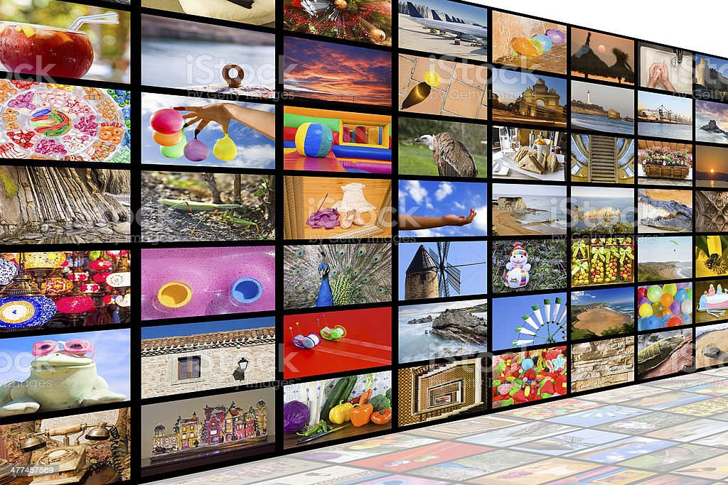 HDTV broadcast concept royalty-free stock photo