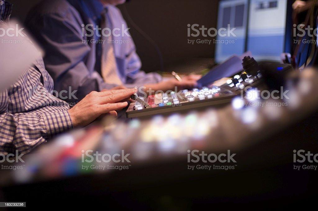 Broadcast Control Studio stock photo
