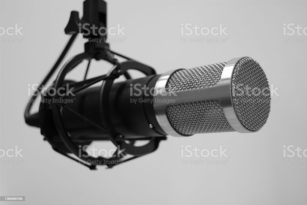 Broadcast Microphone royalty-free stock photo