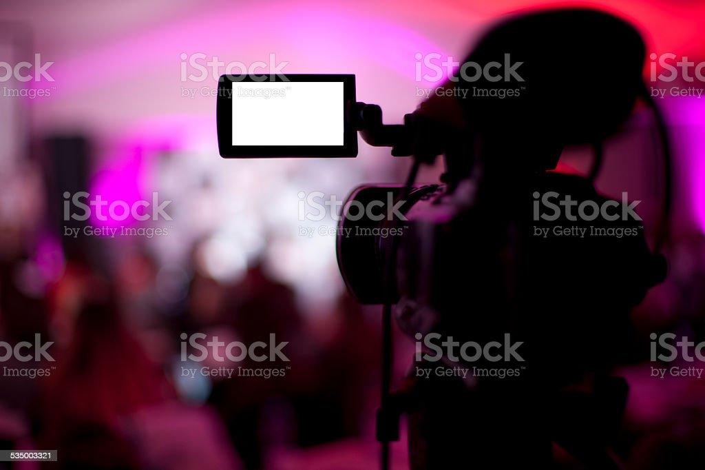 TV broadcast studio stock photo