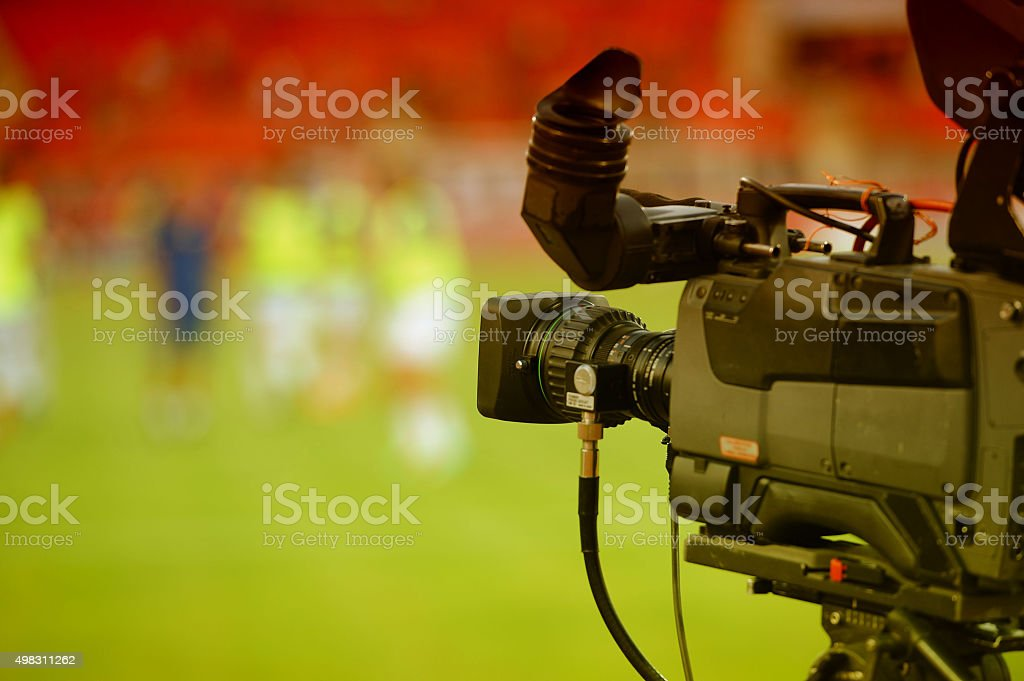Broadcast TV Camera stock photo