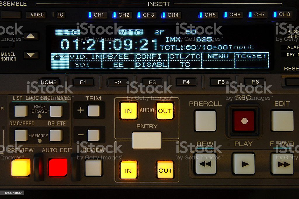 broadcast vcr display royalty-free stock photo