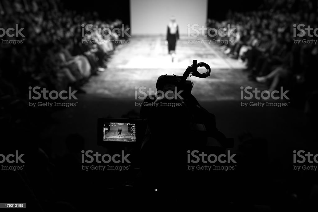 Broadcasting a show stock photo