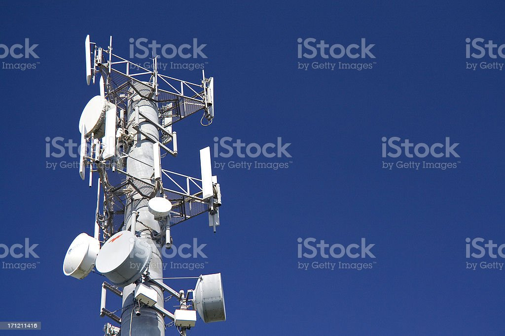 Broadcasting antenna royalty-free stock photo