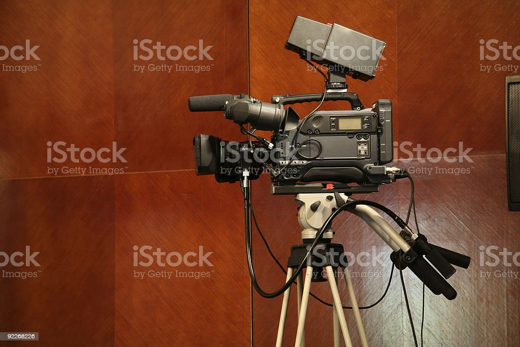 Broadcasting camera royalty-free stock photo
