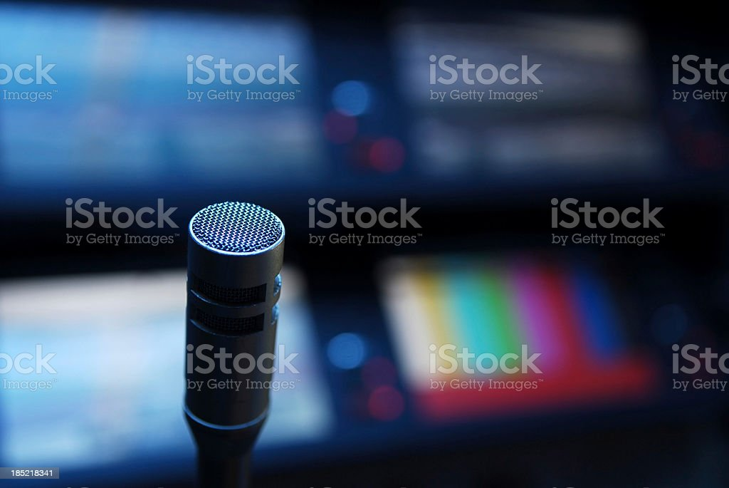 Broadcasting equipment royalty-free stock photo