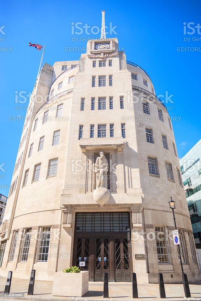 BBC Broadcasting House in central London stock photo