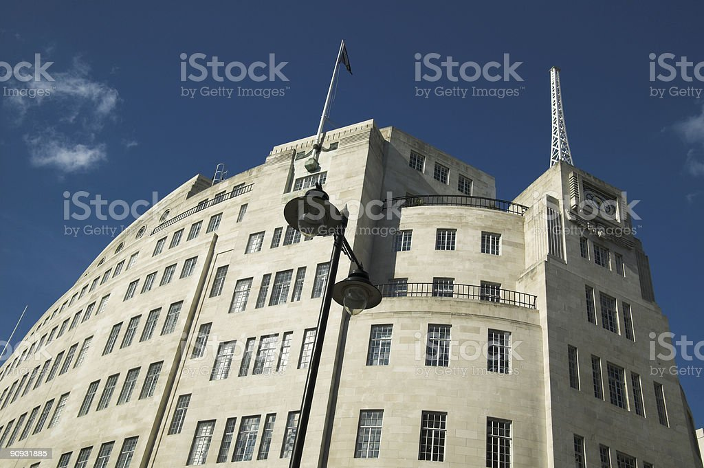 Broadcasting House royalty-free stock photo