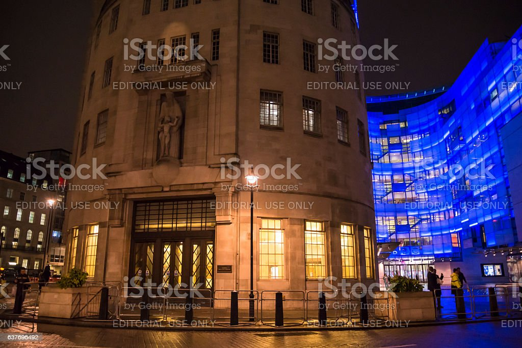 BBC Broadcasting House, Portland Place, London, England, UK stock photo