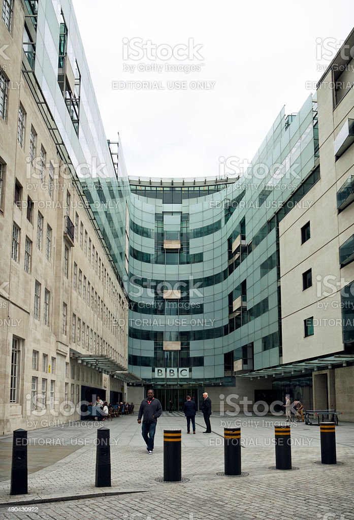 Broadcasting House - the new building in Langham Place stock photo