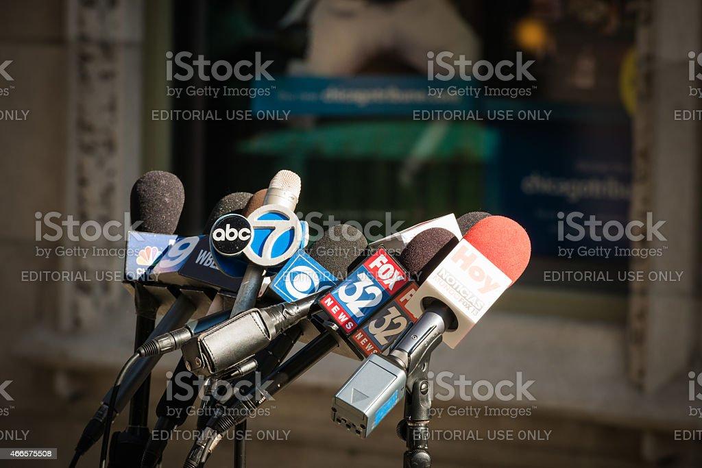 Broadcasting Microphones stock photo