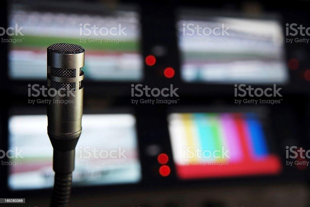 Broadcasting studio stock photo