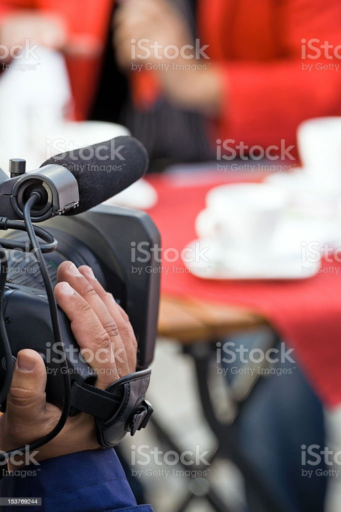 Broadcasting, The media royalty-free stock photo