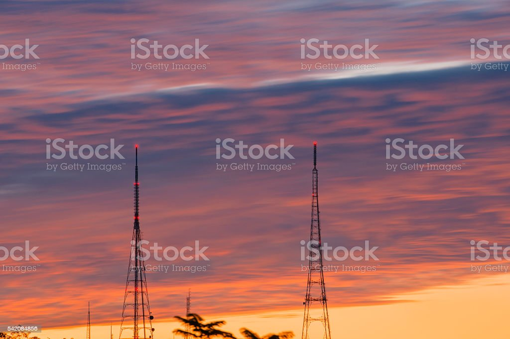 Broadcasting tower in Queensland stock photo