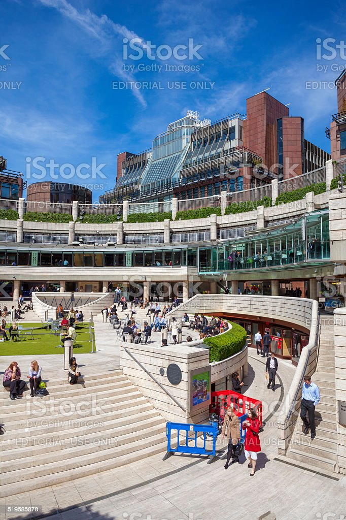 Broadgate Circle in London, United Kingdom stock photo