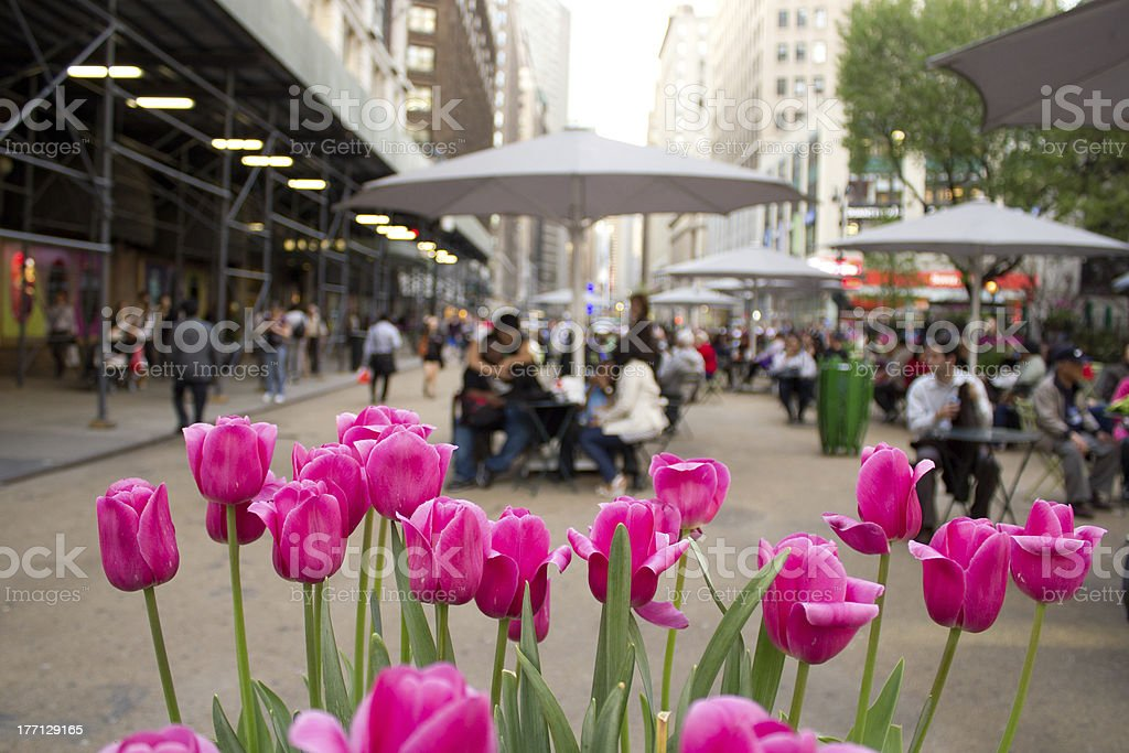 Broadway and 34th Street in NYC stock photo