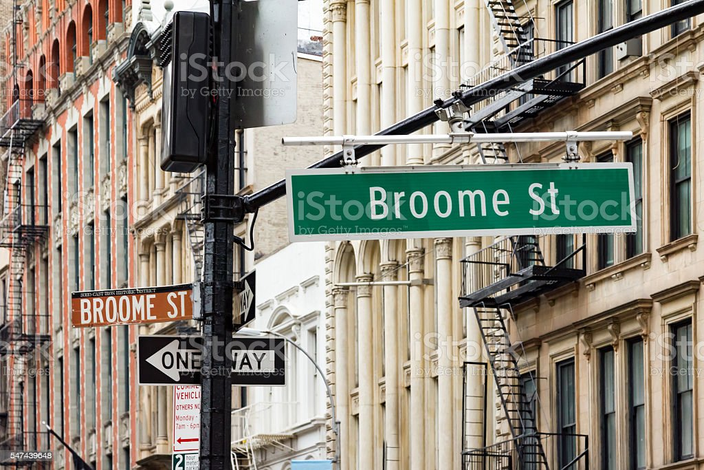 Broadway and Broome Street in Soho Manhattan, New York City stock photo