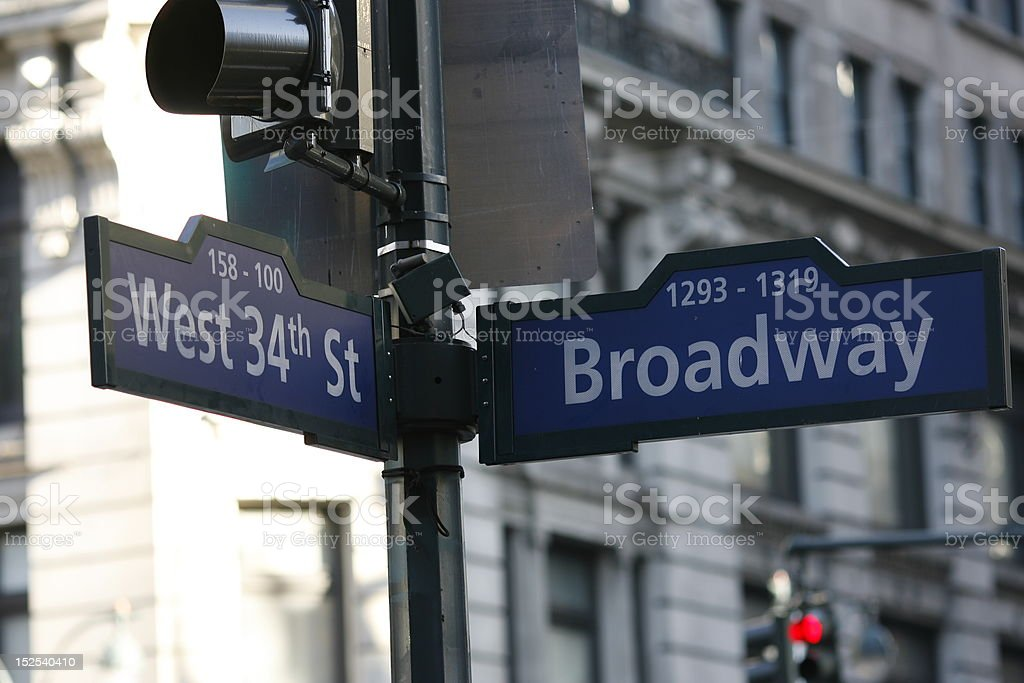 Broadway and West 34th Street stock photo