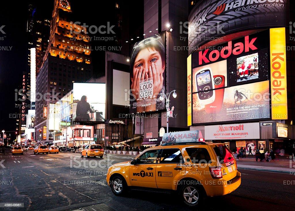 Broadway at night New York royalty-free stock photo