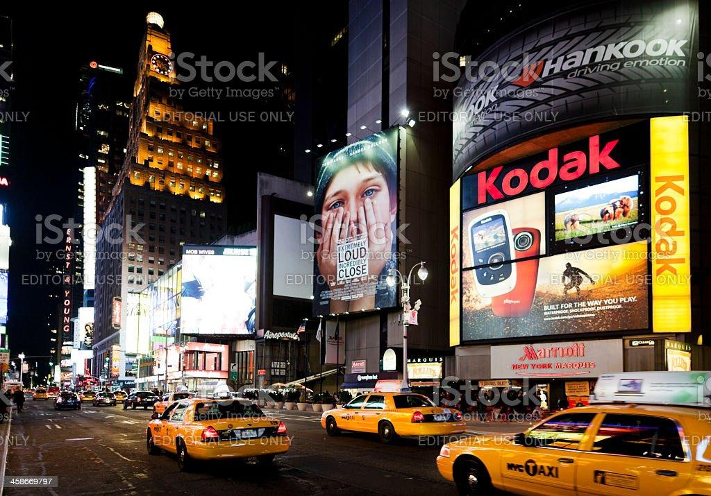 Broadway at night New York stock photo