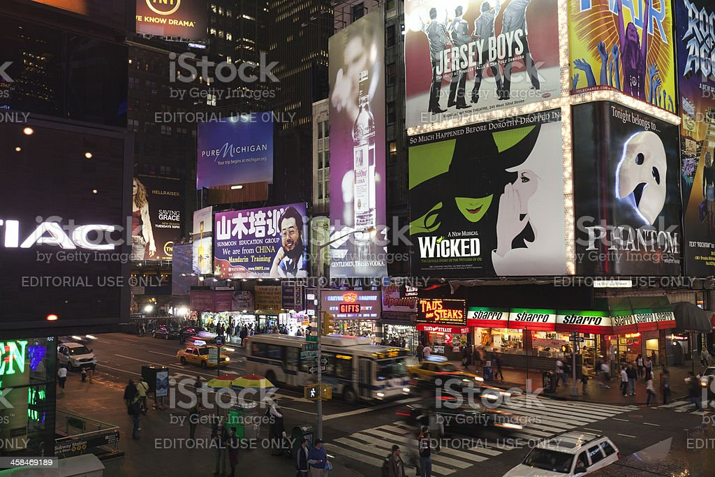 Broadway at Night royalty-free stock photo