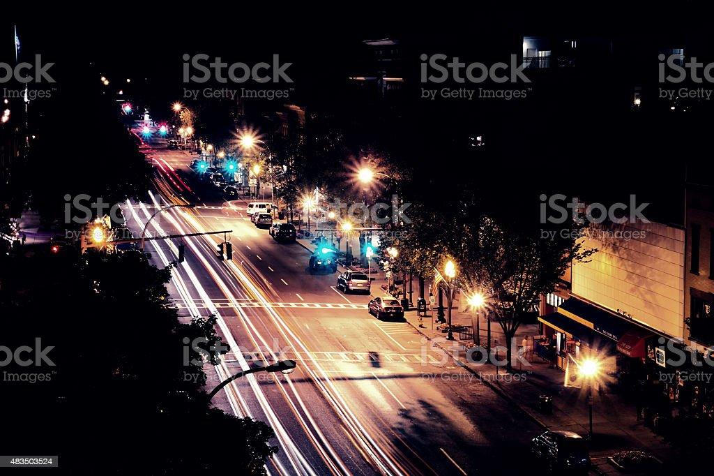 Broadway At Night stock photo