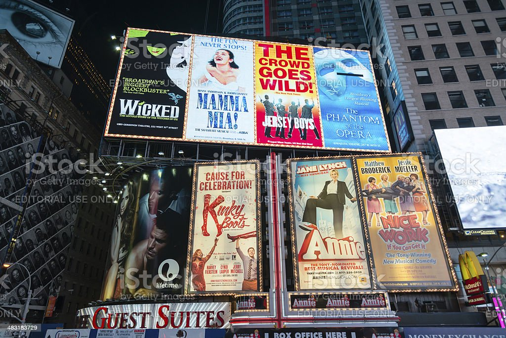 Broadway Billboards stock photo