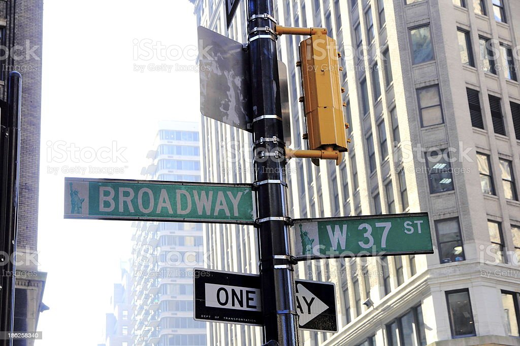 Broadway in New York royalty-free stock photo