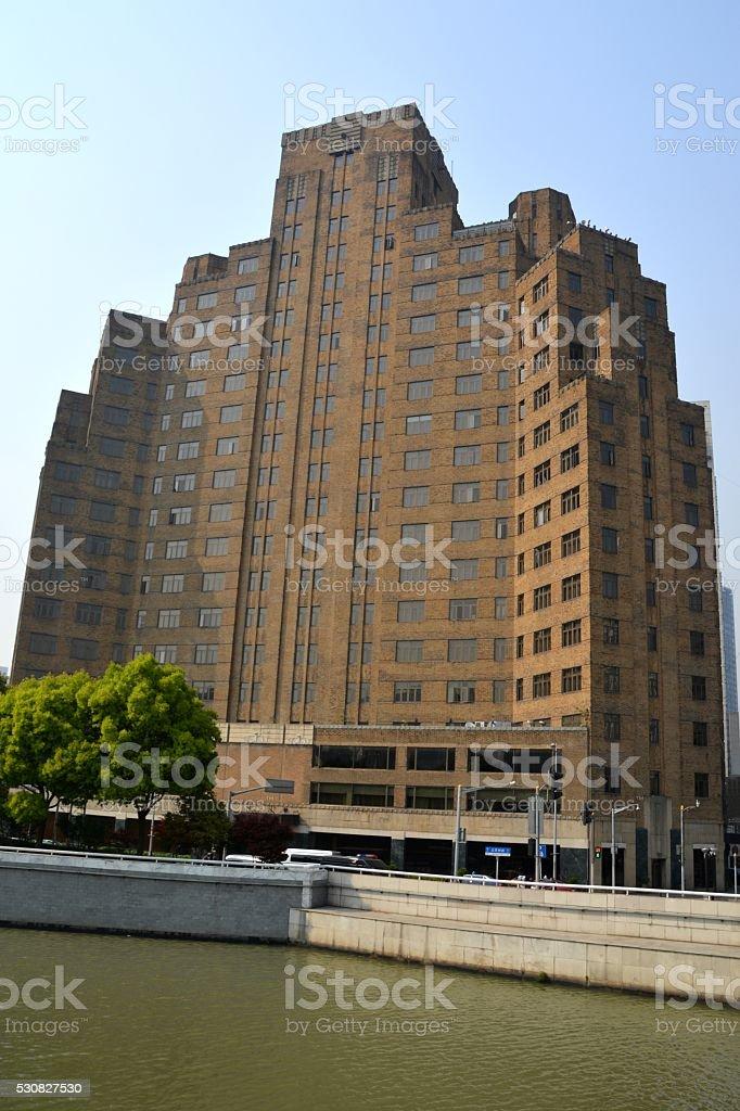 Broadway Mansions, Shanghai, China stock photo