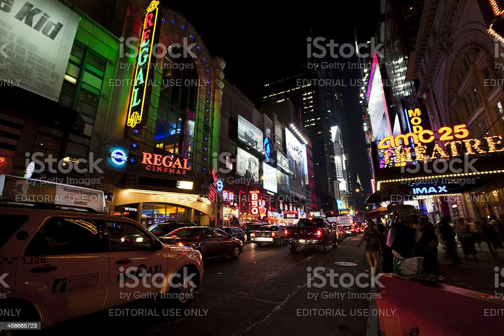 Broadway, New York at night royalty-free stock photo
