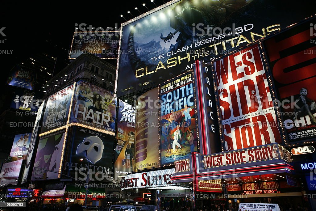 Broadway New York City stock photo