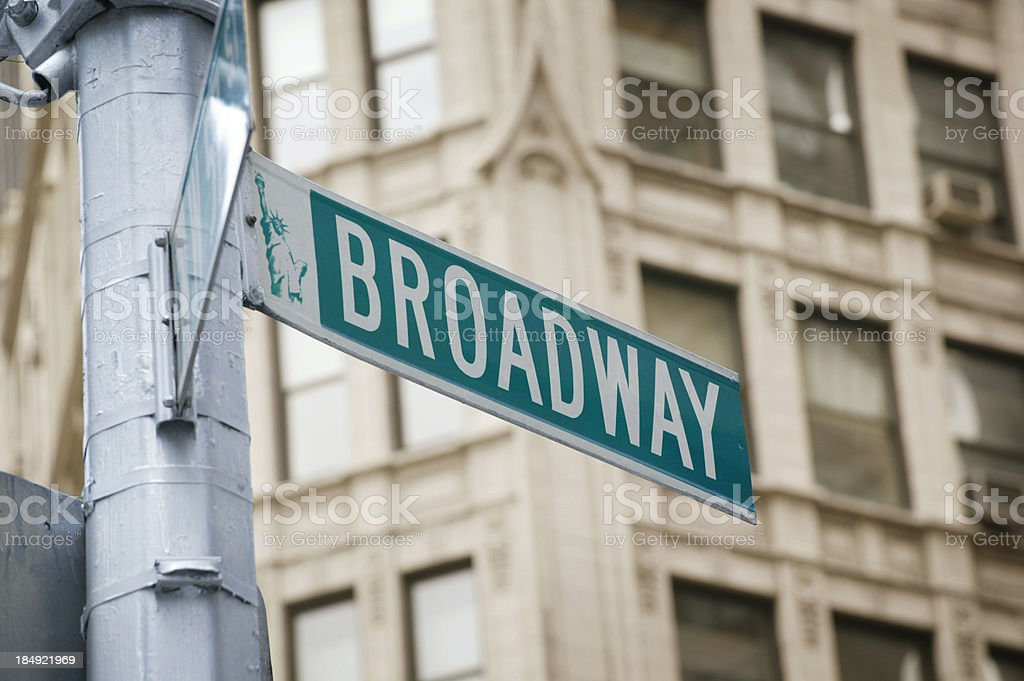 Broadway royalty-free stock photo