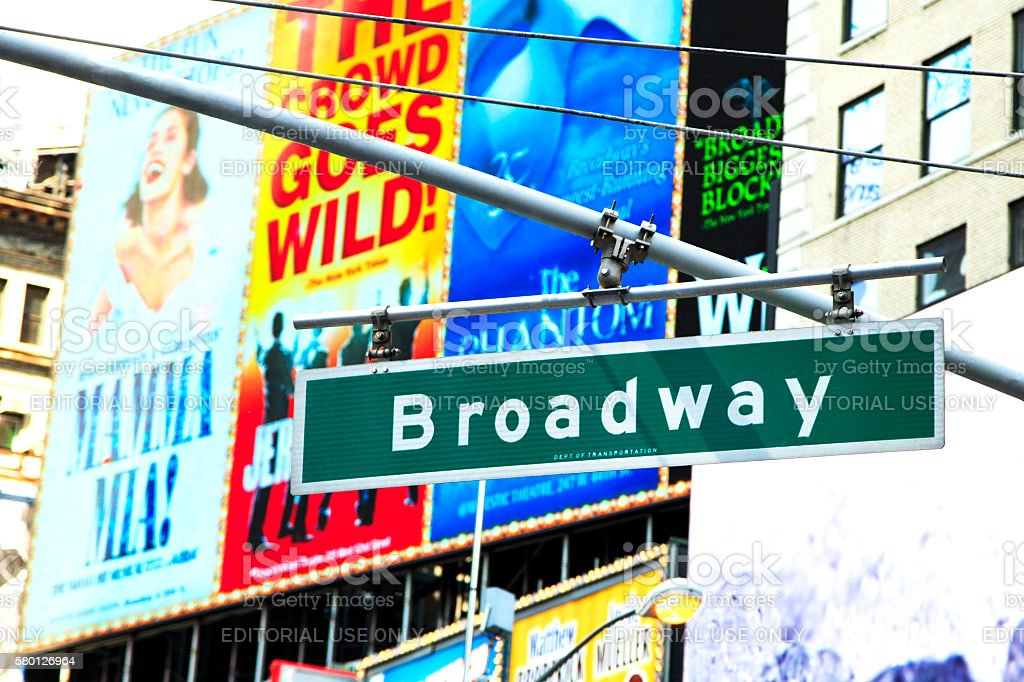 Broadway stock photo