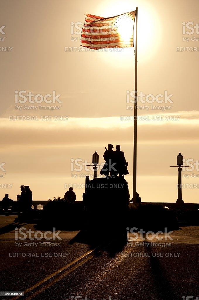 Broadway Seaside stock photo