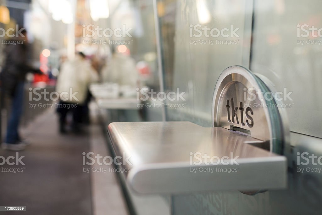Broadway Show Ticket Booth in Times Square, New York City stock photo