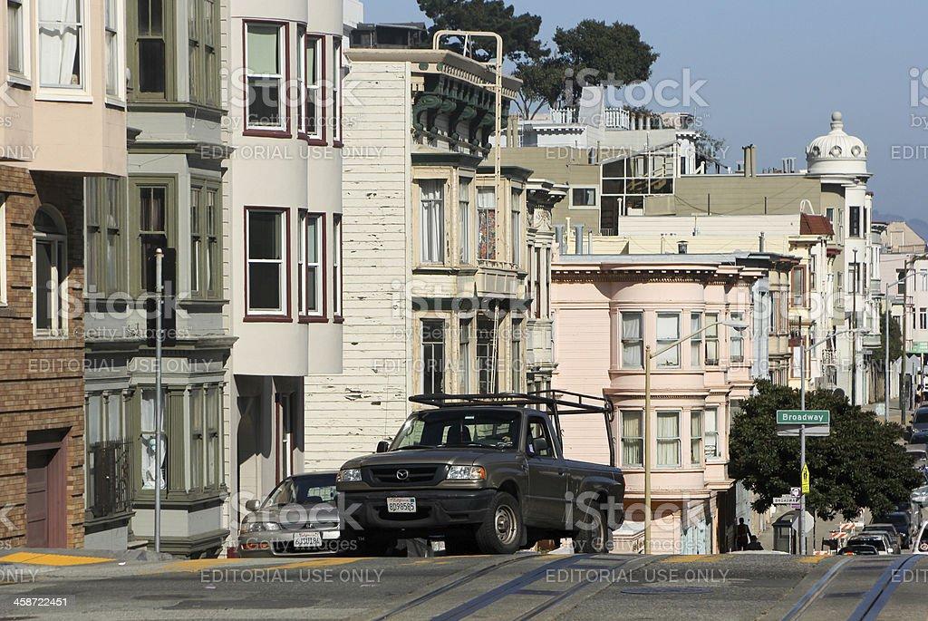 Broadway Street in San Francisco, California stock photo