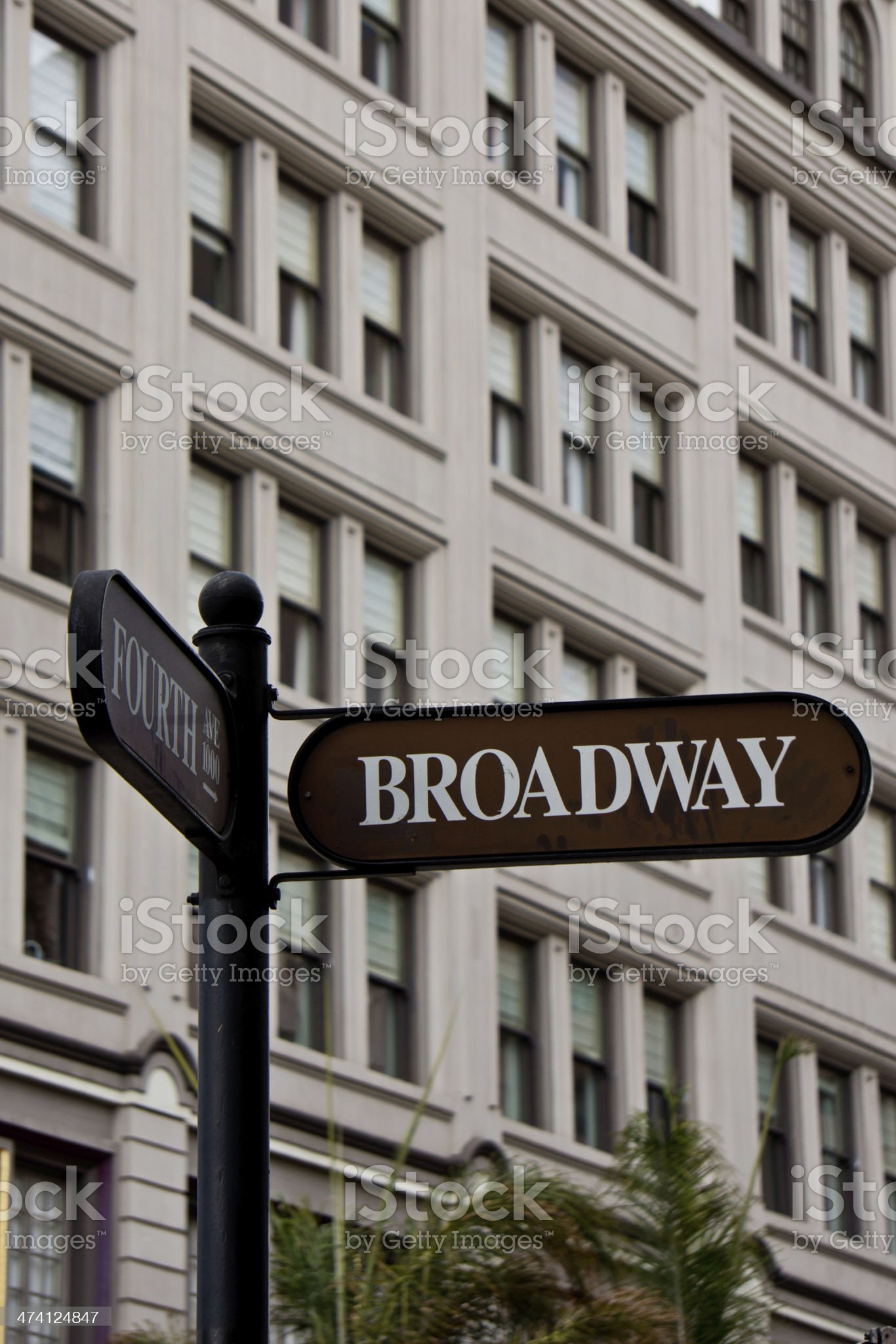Broadway Street royalty-free stock photo